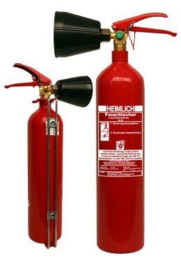 Preisvergleich Produktbild Heimlich Feuerlöscher - CO2 Löscher 2 KG K 2 H-4 inkl. Halter