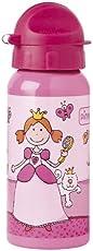 sigikid, Mädchen, Trinkflasche mit Drehverschluss 0,4 l, Pinky Queeny, Pink, 24482