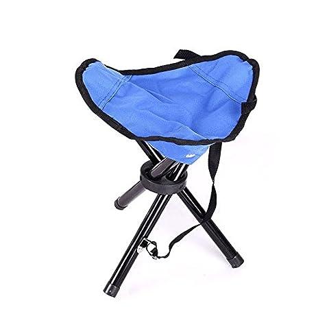 Chaise de camping Tabouret pliant portable pour le camping, la pêche, les jeux, barbecue, etc.–29x 29x 35cm, bleu