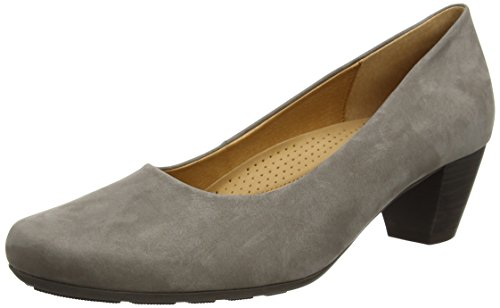 Gabor brambling N, Damen Pumps, Grey (Grey Nubuck Oil), 42.5 EU (8.5 UK) (Heel Stack)