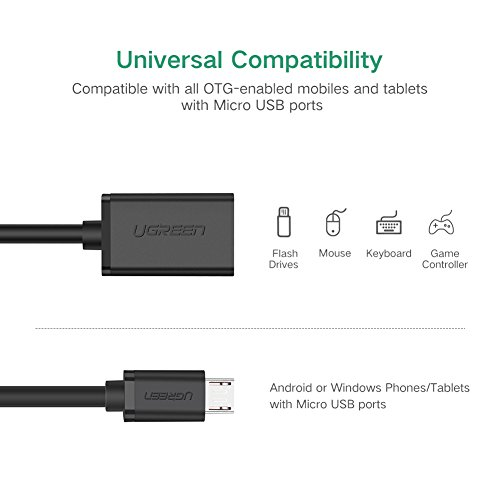 UGREEN OTG Kabel USB 2.0 auf Micro USB On The Go Adapterkabel für Samsung S7/S7edge S6 - 2