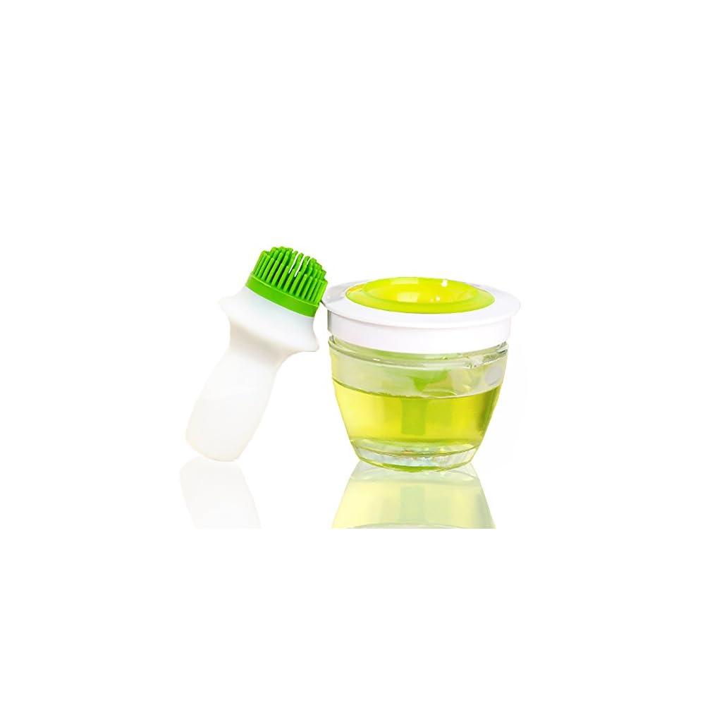 Silikon Bbq L Flasche Pinsel Honig Spender Aufbewahrung Und Backpinsel Fr Grillen Backen Pancakebbqmarinieren Foods