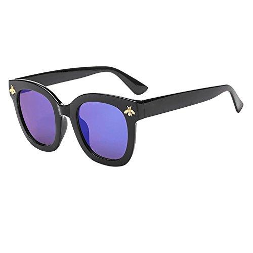 iCerber sonnenbrillen Elegant Niedlichen Charmant Frauen-Mann-Weinlese-Bienen-Sonnenbrille-Retro- große Rahmen-Brillen-Mode UV 400 ❀❀2019 Neu❀❀(MMehrfarbig)