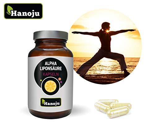 Alpha-liponsäure 200 Mg Kapseln (Hanoju Alpha Liponsäure 400mg 90 Kapseln - Nahrungsergänzungsmittel mit Alpha-Liponsäure Laktose & Zuckerfrei)