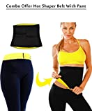 Virtual World Combo Offer Hot Shapers Slimming Belt with Hot Shaper Pant (2XL_Black)