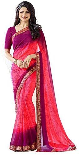 Hinayat Fashion Pink Chiffon Saree-534