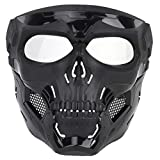 HYZH WST Airsoft Paintball-Maske Skull Tactical Mask Halloween-Partyspiel-Gesichtsmaske für Fast - MA-110-BK