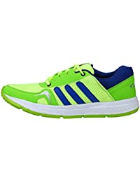 Kzaara Green Blue Mesh Lace-Up Sport Shoes For Men