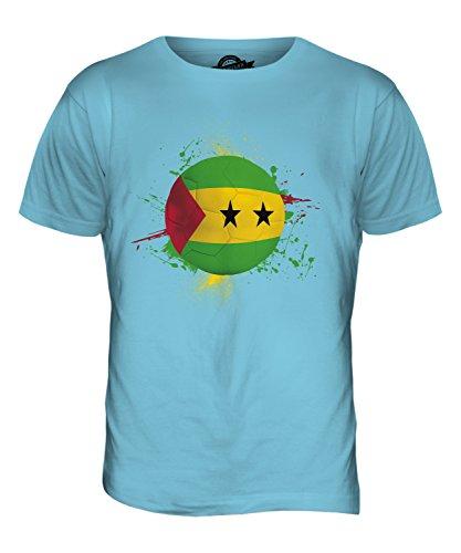 CandyMix São Tomé Und Príncipe Fußball Herren T Shirt Himmelblau
