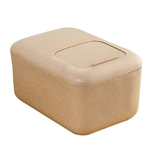 Jlxl Grande Contenedor para Pienso, 12 Kg Fibra de Trigo Comida Sec Envase Caja De Almacenamiento Marcado con Escala (Color : A)