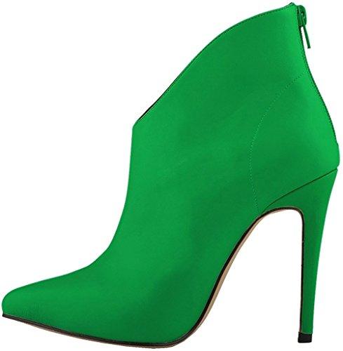 Calaier Femme Caclimb 11CM Aiguille Fermeture Éclair Bottes Chaussures Vert