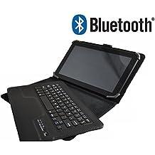 """Funda con Teclado Bluetooth Extraíble para Tablet Samsung Galaxy Tab 2 / Tab 3 / Tab 4 de 10.1""""- Color NEGRO"""