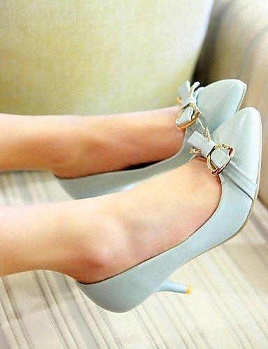 WSS 2016 Chaussures Femme-Bureau & Travail / Habillé / Décontracté-Bleu / Rose / Beige-Talon Aiguille-Talons-Talons-Similicuir pink-us9.5-10 / eu41 / uk7.5-8 / cn42