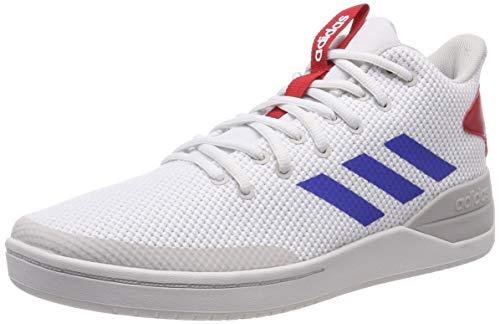 adidas Herren B-Ball 80S Basketballschuhe, Mehrfarbig (FTWR White/Blue/Scarlet), 44 EU