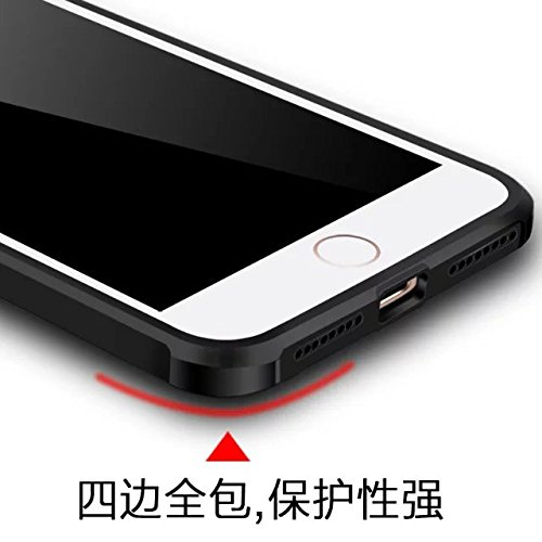 Wkae IPhone 7 Plus Case, geprägte Lackierung Premium-Qualität inklusive inkl. Schutz Shockproof Ultra-dünne weiche TPU-Rückseitenabdeckung Für IPhone 7 Plus ( Color : 1 ) 4