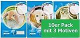 LANDRE 100050068 Schulheft 10er Pack A5 16 Blatt Lineatur 2 - für die 2. Klasse 3 Motive sortiert