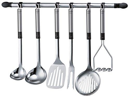 Leifheit - Riel de gancho, 55 cm, ideal para el almacenamiento decorativo de utensilios de cocina Le