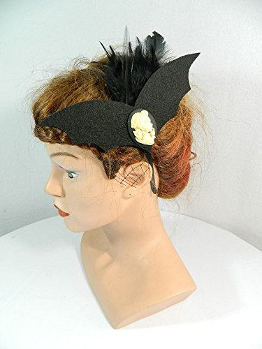 Haarreif Fledermaus Gothic Fascinator schwarz