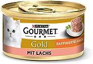 Purina Gourmet Guld Raffinerad Ragout Våtkattfoder, Olika Sorter, 12 x 85 g
