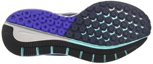 Nike Damen W Air Zoom Struttura 21 Laufschuhe Blau (tuono Blu / Nero / Viola Persiana / Argento Metallizzato)