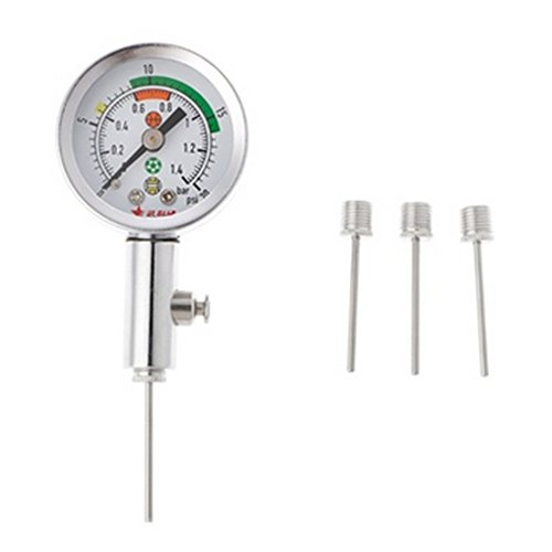 VOOYE Profi Metall Ball Manometer AIR Uhr Basketball Barometer