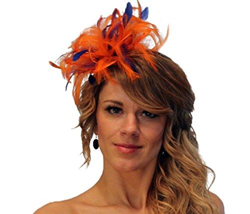 Maighread Stuart Millinery - Bandeau - Femme Multicolore - Orange/Royal Blue