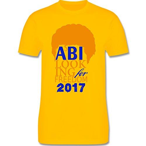 Abi & Abschluss - ABI looking for freedom 2017 - Herren Premium T-Shirt Gelb