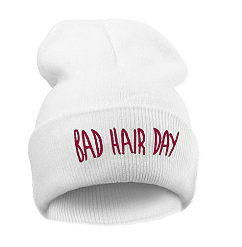 4fa6c1f6b8 Beanie hat Bonnet Fashion Jersay Oversize Bad Hair Day