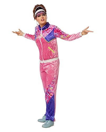 Horror-Shop 80s Trainingsanzug Damen Kostüm für Mottopartys