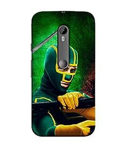 PrintVisa Designer Back Case Cover for Motorola Moto G3 :: Motorola Moto G (3rd Gen) :: Motorola Moto G3 Dual SIM (Advertisement Poster Mask Power Fight Eyes Face)