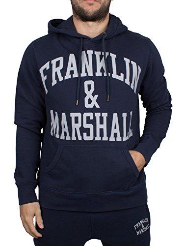 Franklin & Marshall FLMVA089XMW16, Felpa Uomo, Blu (Navy), Large