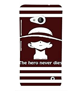 PrintVisa Cool Boy Hero 3D Hard Polycarbonate Designer Back Case Cover for Nokia Lumia 550