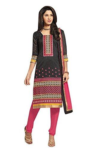 Vibes Pure Chanderi Straight Fit Un-Stitched Salwar Kameez V125-1664
