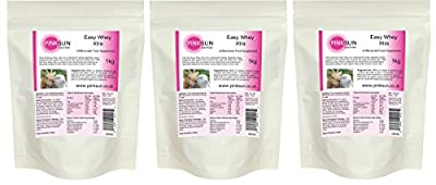 PINK SUN Easy Whey Xtra Goat and Sheep Whey Protein Concentrate Powder (80% protein) - Soy free, pasture fed, hormone free from PINK SUN Ltd