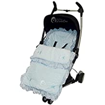Broderie Anglaise saco/Cosy Toes Bebecar Ip-Op Grand Stylo azul