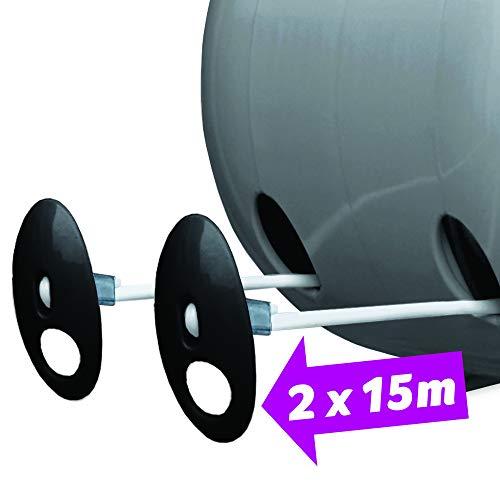 Minky ausziehbare Wäscheleine für Außen, 30 Meter (2x15m) - 4