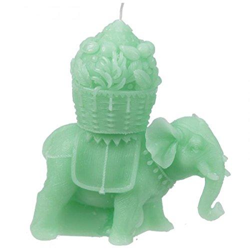 Grande verde de elefante con Howdah vela. 2mechas, Gran regalo