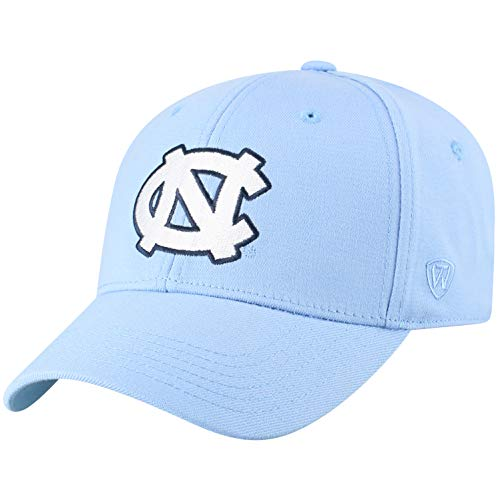 Top of the World NCAA North Carolina Tar Heels Men's Premium Memory Foam Logo Hat, Light Blue