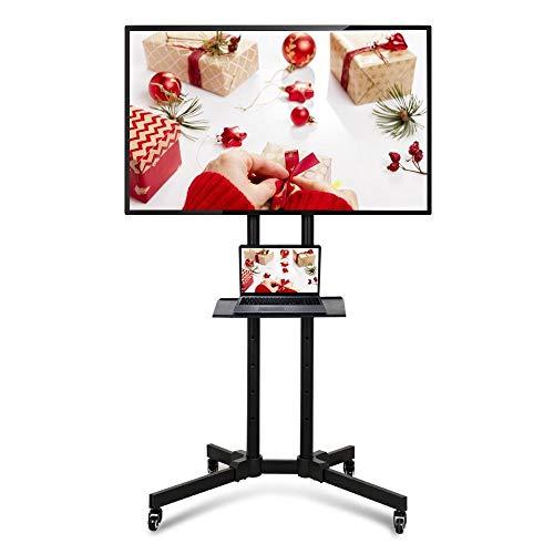 Yaheetech Mobil TV Wagen Trolley 32-70 Zoll Universal TV Ständer Standfuß höhenverstellbar Fernsehständer mit Halterung für LCD LED schwenkbar VESA:200x200 mm, 400x400 mm, 600x400 mm bis 50 kg