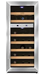 CASO WineDuett 21 - Design Weinkühlschrank mit zwei Temperaturzonen für Rotwein & Weißwein, Temperaturbereich von 7°C - 18°C, laufruhige elektronische Kühlung