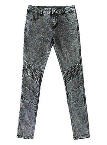 Bienzoe Mädchen Baumwolle Dehnbar Dunkelblau Schnee waschen Dünn Jeans Hosen