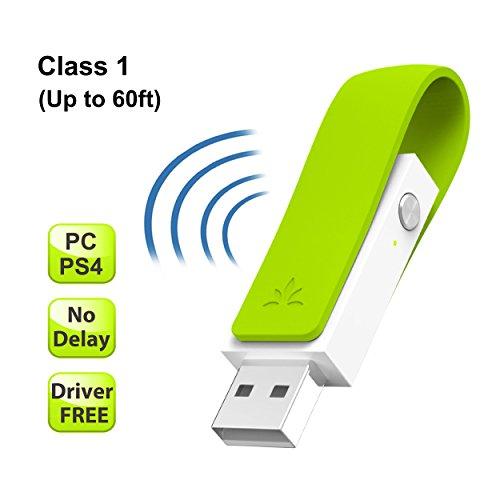 Avantree aptX LOW LATENCY USB Bluetooth 4.1 Adaptateur Dongle pour PC, Aucun Pilote Requis, Transmetteur Audio sans fil pour PS4 Nintendo Switch Windows Mac Linux, Films et Jeux [Garantie 2 ans]