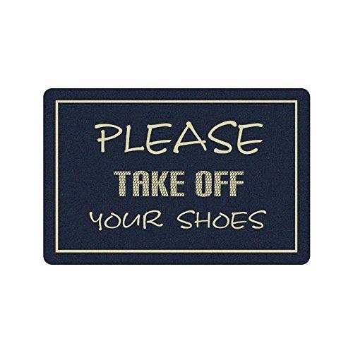 Nicole's Doormats 59,9 cm (L) x 39,9 cm (L), 3/40,6 cm d'épaisseur, Veuillez Retirer Vos Chaussures Lavable en Machine Paillasson Tapis