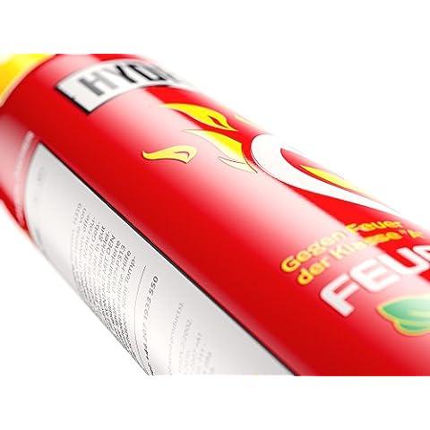 Hydro tatin - para un control efectivo de fuego del aerosol de extinción 600 ml - completo con soporte de pared para casa, oficina y coche