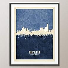 Manchester England Skyline art print unframed #4683