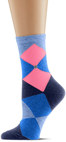 Burlington Damen Socken Neon Bonnie, Mehrfarbig (Light Jeans 6662), 36/41