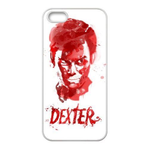 Dexter Blood coque iPhone 4 4S Housse Blanc téléphone portable couverture de cas coque EBDXJKNBO09561
