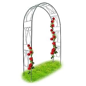 Relaxdays arche rosiers tuteur roses arche de jardin - Arceau de jardin pour plantes grimpantes ...