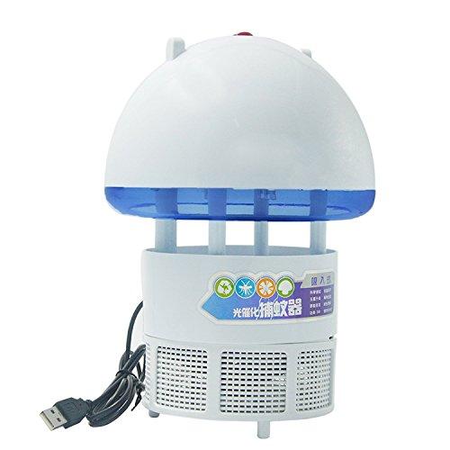 Home Office Indoor Portable USB-Photocatalyst Elektrischen Moskito Insekten Killer Catcher Flycatcher Lampe LED Nacht Licht Weiß (Mückenschutz Solar-licht,)