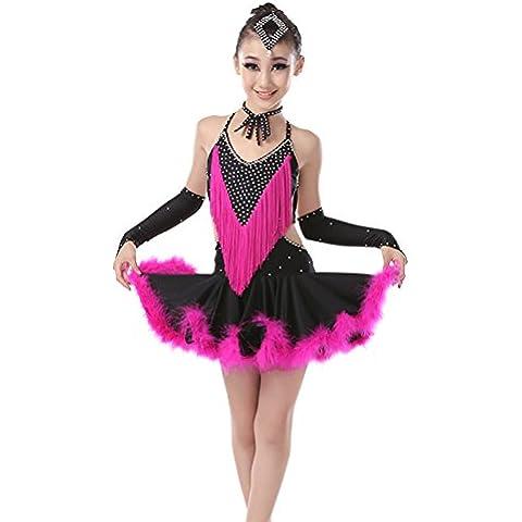 Gonna da ballo bambini danza latino Costume abito adulto Samba